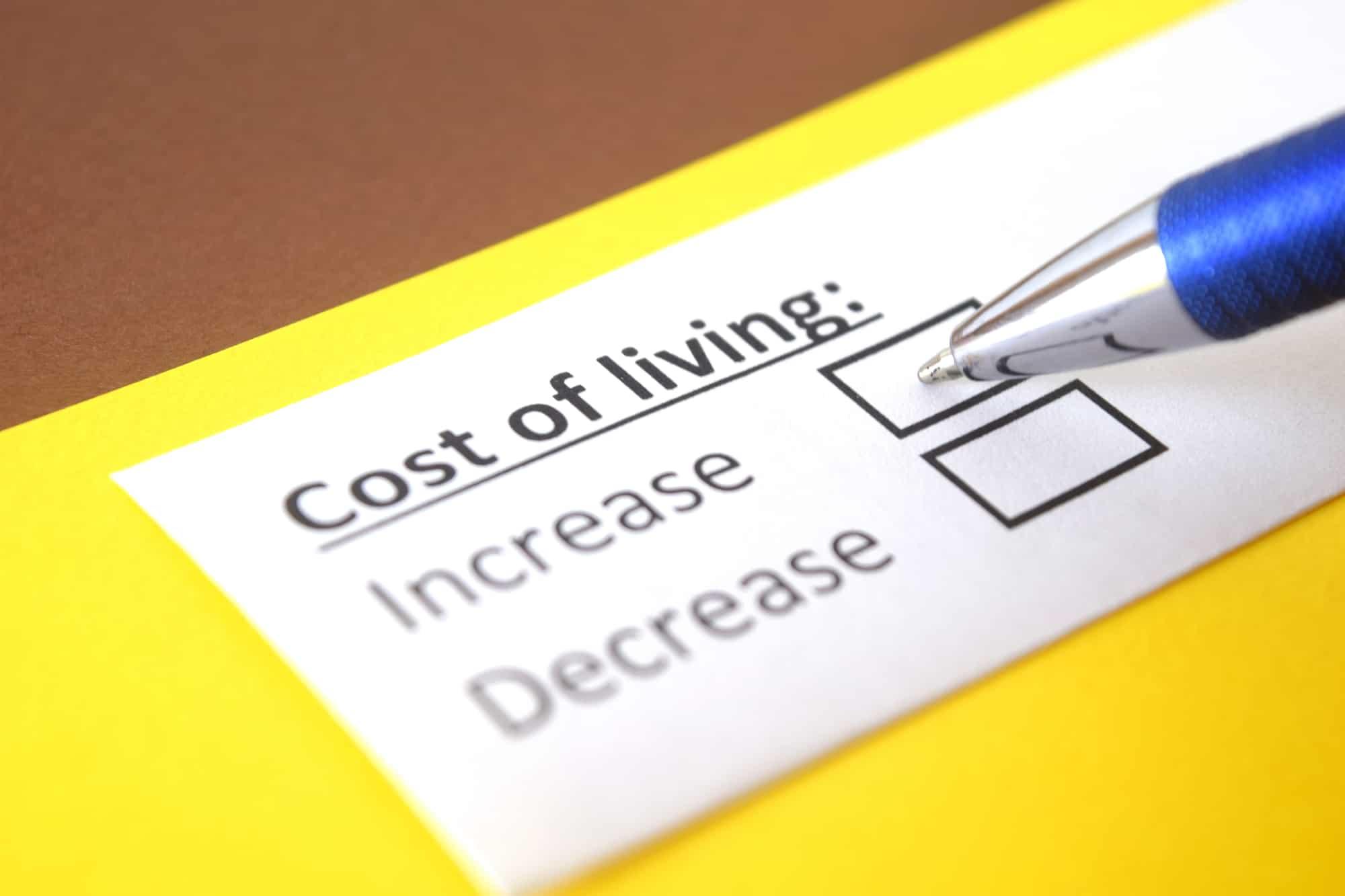 Cost of living adjustment (COLA) prediction